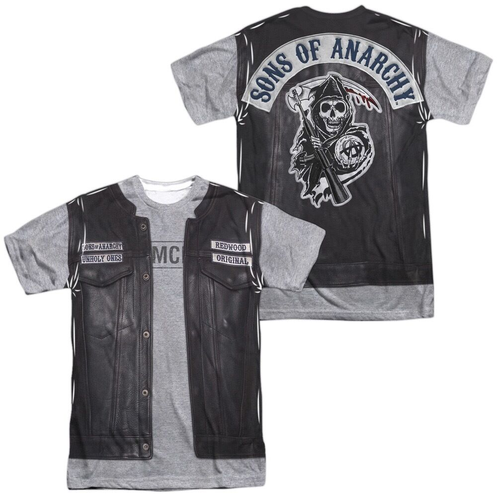 Sons of anarchy jax s leather vest jacket costume outfit for Costume t shirts online