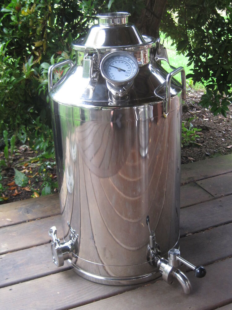 13 Gallon Stainless Steel, Moonshine Whiskey Still Boiler kettle | eBay
