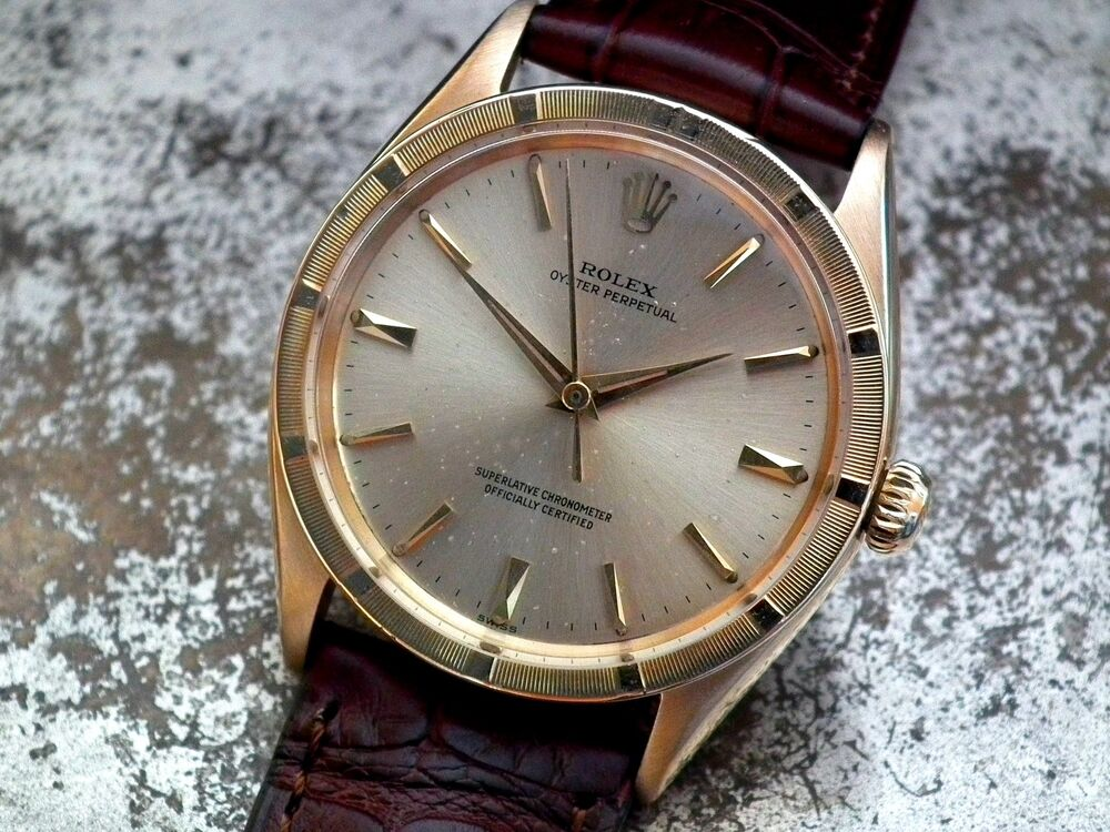 Stunning 18ct Gold 1962 Rolex Oyster Perpetual Chronometer Gents Vintage  Watch  7979a6e81951