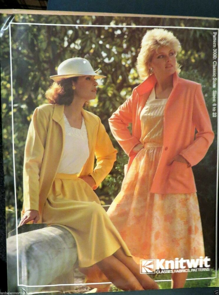 Knitwit sewing pattern no. 3000 Classic suits sizes 6-22 | eBay