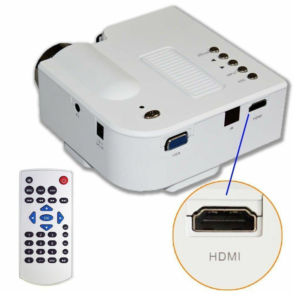 laptop portable projector presentation sales mini hd led pc video new ebay. Black Bedroom Furniture Sets. Home Design Ideas