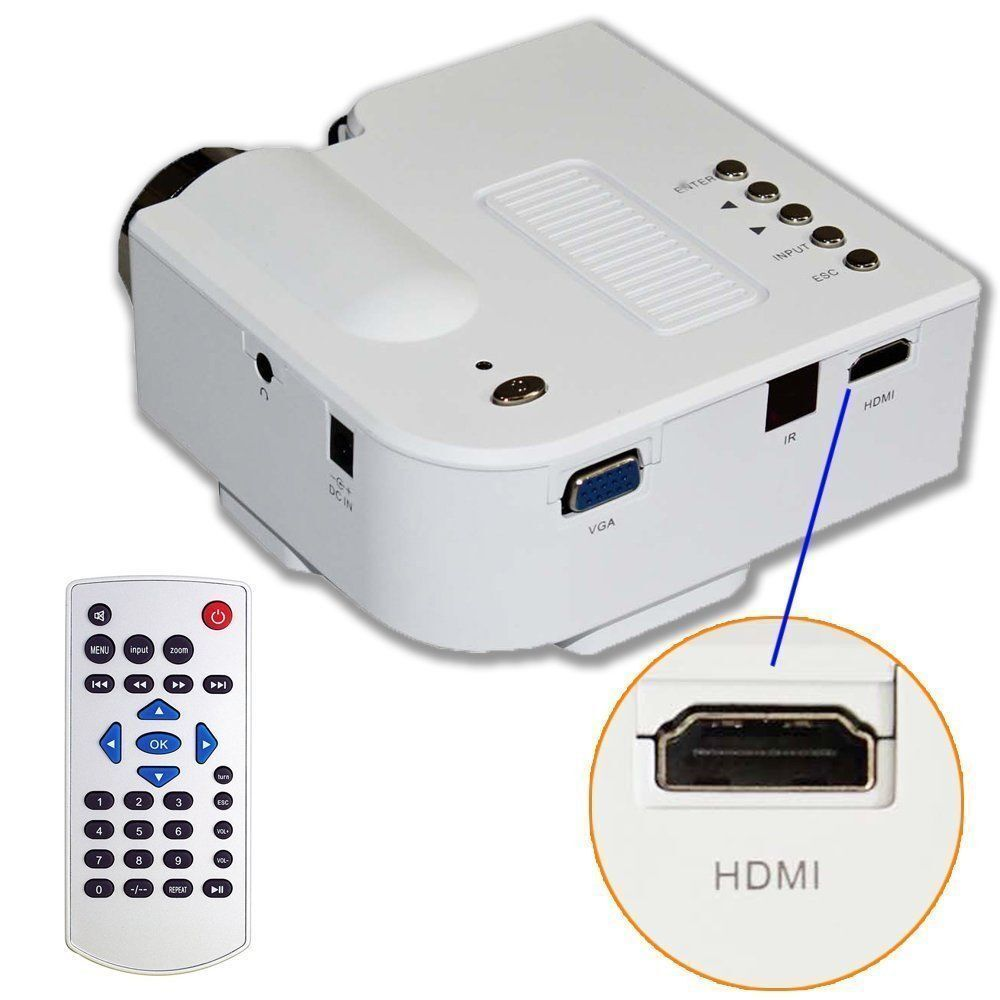 Laptop portable projector presentation sales mini hd led for Portable projector for laptop