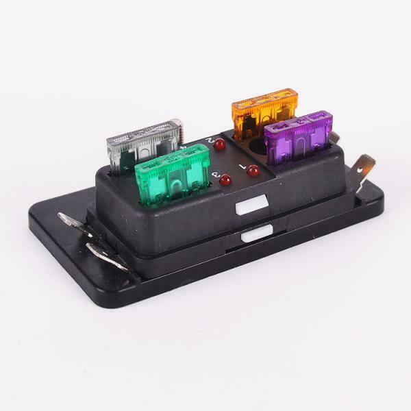 motorcycle car led light way fuse box wire terminal fuse puller motorcycle car led light 4 way fuse box wire terminal fuse puller ribbons