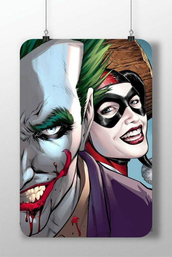 Metal sign the joker harley quinn suicide squad great for Harley quinn bedroom designs