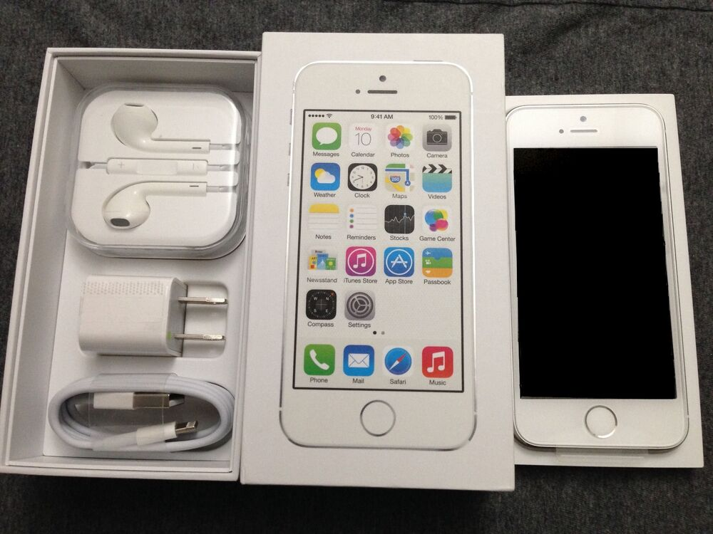 NEW Silver White iPhone 5S 64GB Factory Unlocked TMobile ...