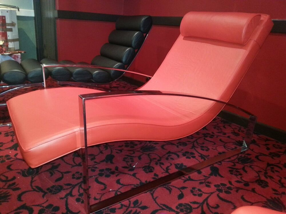Leather Chaise Lounge EBay