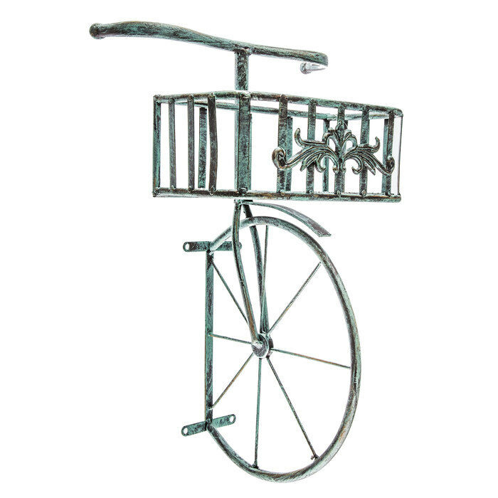 Wall Art Metal Bicycle : Rustic antique turquoise bicycle metal wall decor with