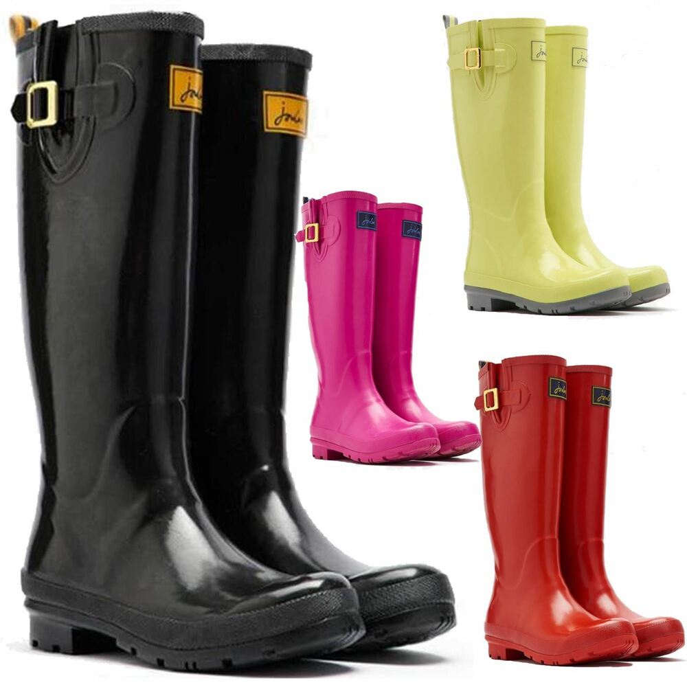 Joules Field New Womens Waterproof Fashion Rain Festival Walking Wellies Boots Ebay