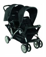 NEW GRACO OXFORD BLACK STADIUM DUO DOUBLE TANDEM BABY TWIN PUSHCHAIR NEW