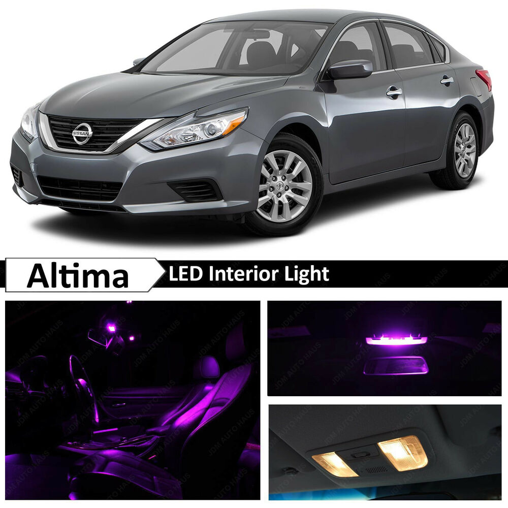 13x purple led lights interior package kit for 2015 2016 altima ebay for Led car interior lights ebay