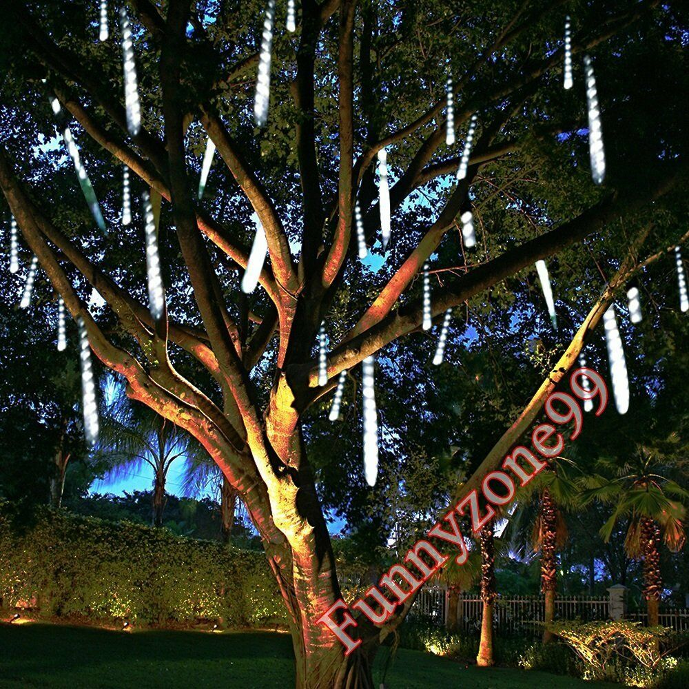 144 LED SNOW SHOWER ICICLE LIGHTS CHRISTMAS OUTDOOR DECORATIONS METEOR EFFECT
