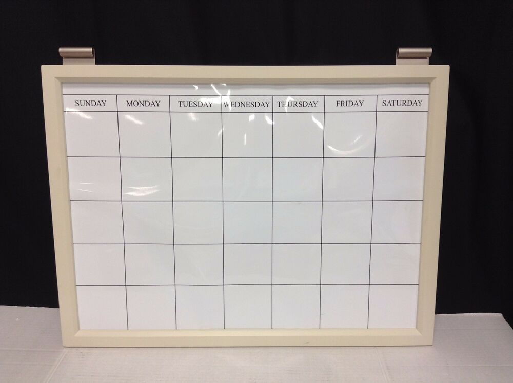 Pottery Barn Daily System Magnetic Whiteboard Calendar