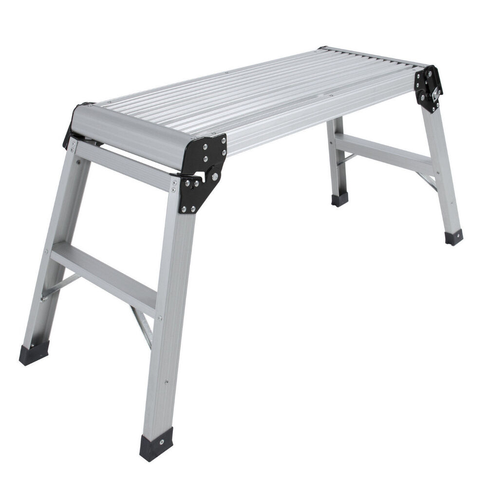 2016 Aluminum Platform Drywall Step Up Folding Work Bench