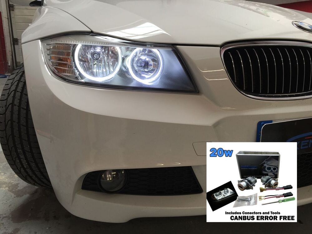 bmw e90 lci angel eye marker led 6000k white 20w 3 series. Black Bedroom Furniture Sets. Home Design Ideas