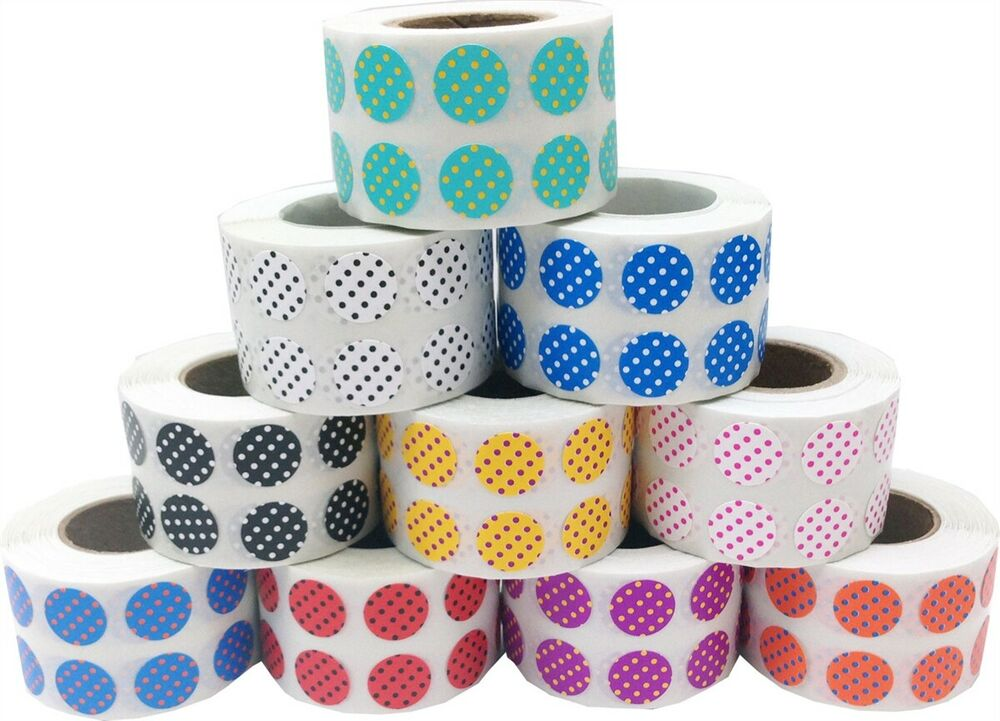 It is a photo of Striking 1 Inch Round Custom Labels