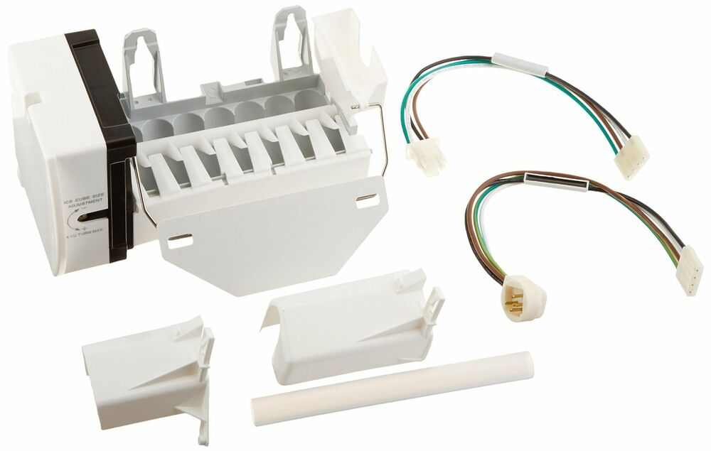 Ge general electric hotpoint refrigerator wr30x10093 ice maker kit new free ship ebay for Ge exterior refrigerator icemaker filter
