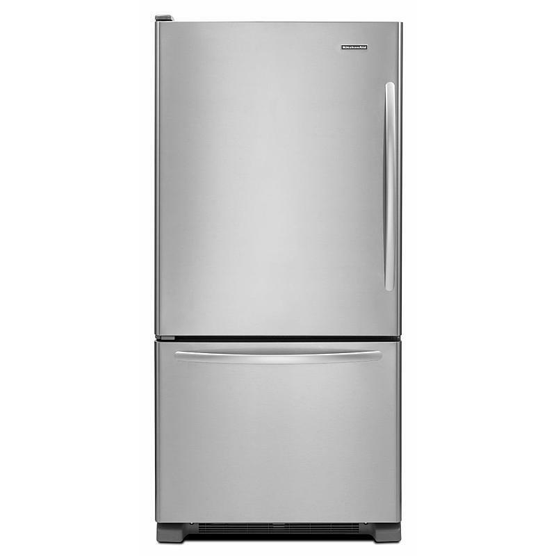 "Kitchenaid 30 In W 19 7 Cu Ft French Door Refrigerator: KitchenAid KBLS19KCMS 30"" Stainless Bottom Freezer Refrigerator NEW Daily DEAL!"