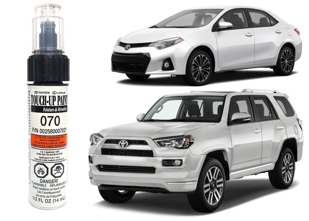 Genuine toyota 00258 00070 21 white touch up paint pen for Toyota paint touch up pen