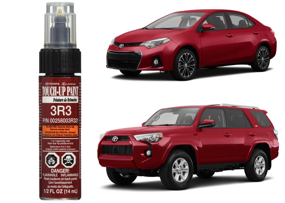 Genuine toyota 00258 003r3 21 barcelona red metallic touch for Toyota paint touch up pen
