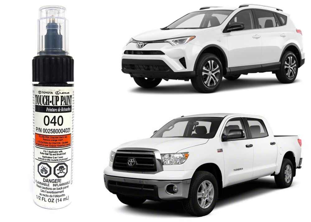 Genuine toyota 00258 00040 21 white touch up paint pen new for Toyota paint touch up pen