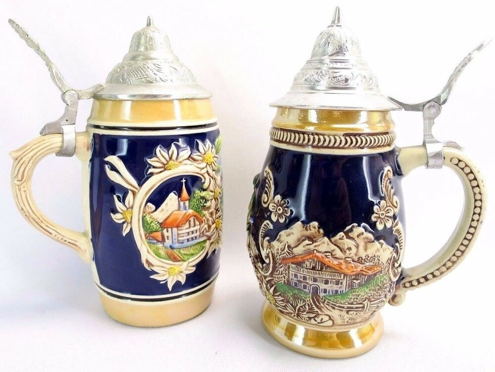 Vintage Beer Stein Made in West Germany. DBGM |Vintage West Germany Beer Steins