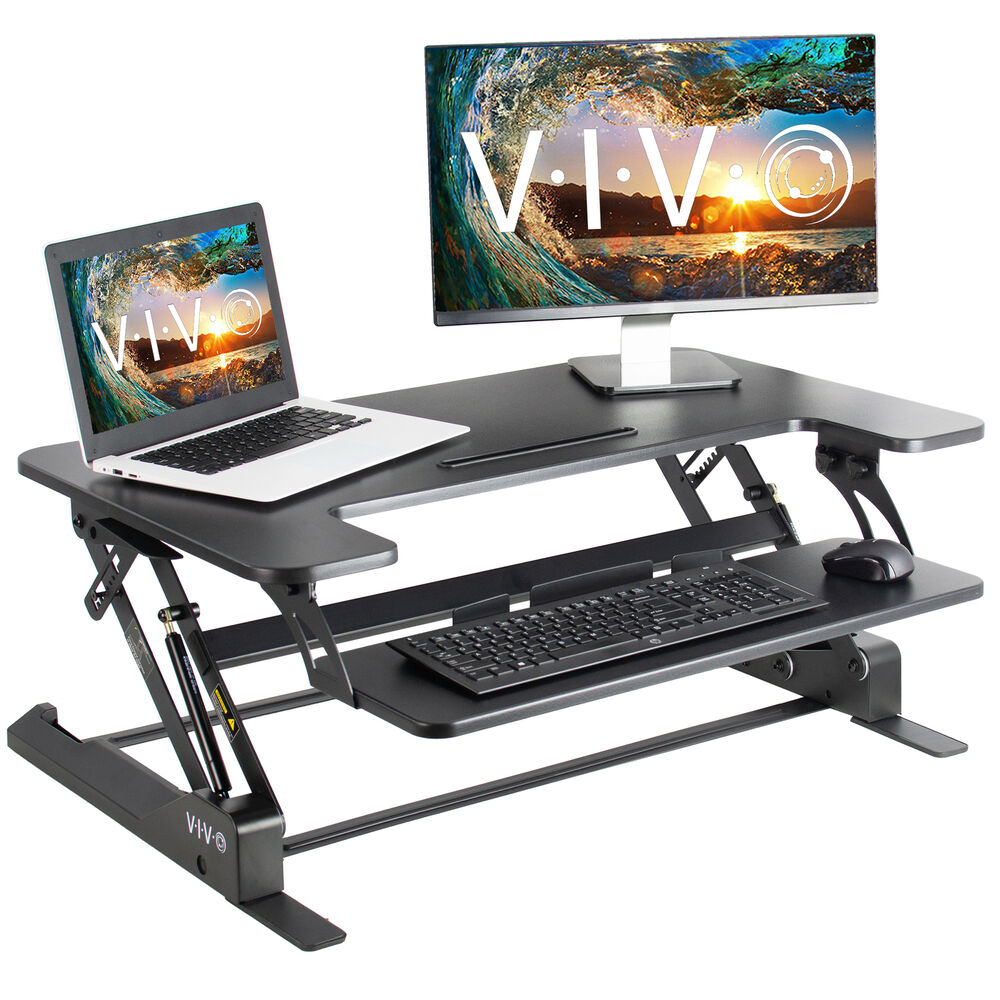 Vivo Height Adjustable Standing Desk Monitor Riser