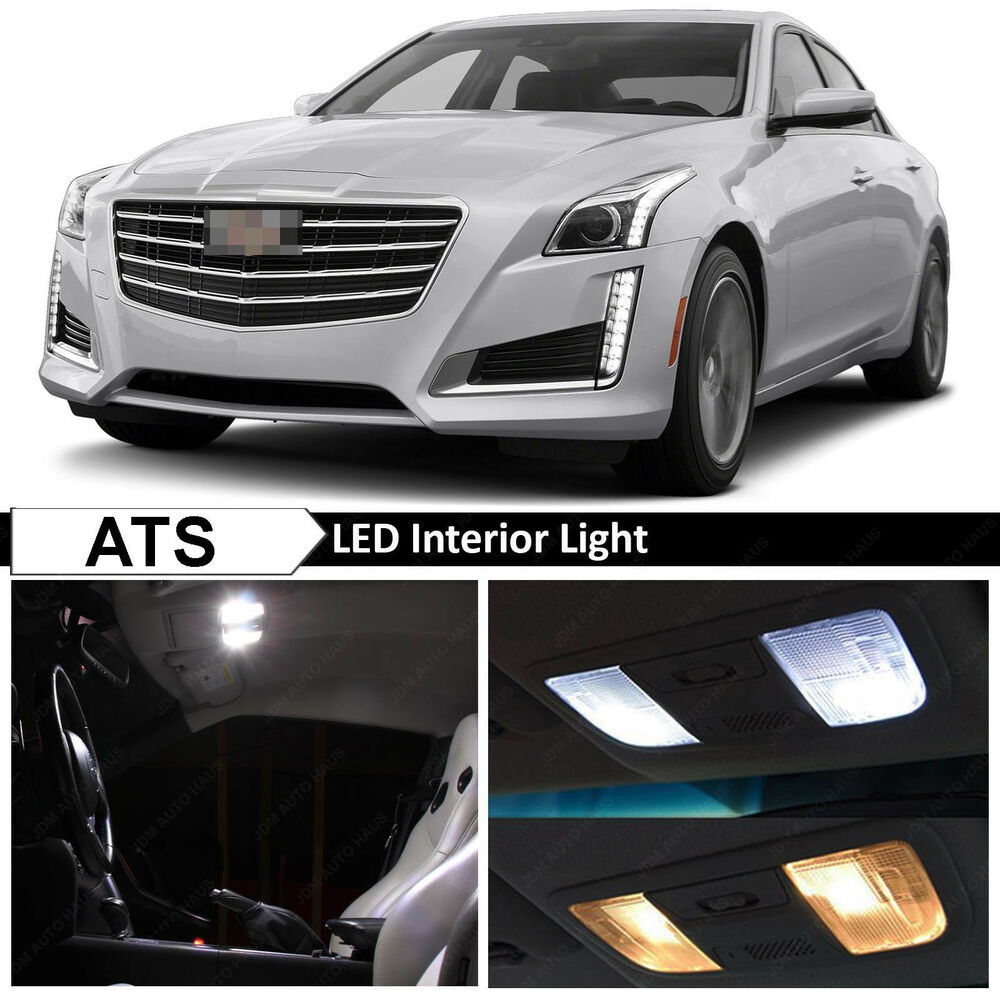 18x White Interior Led Lights Package Kit For 2013 2015 Cadillac Ats Ebay