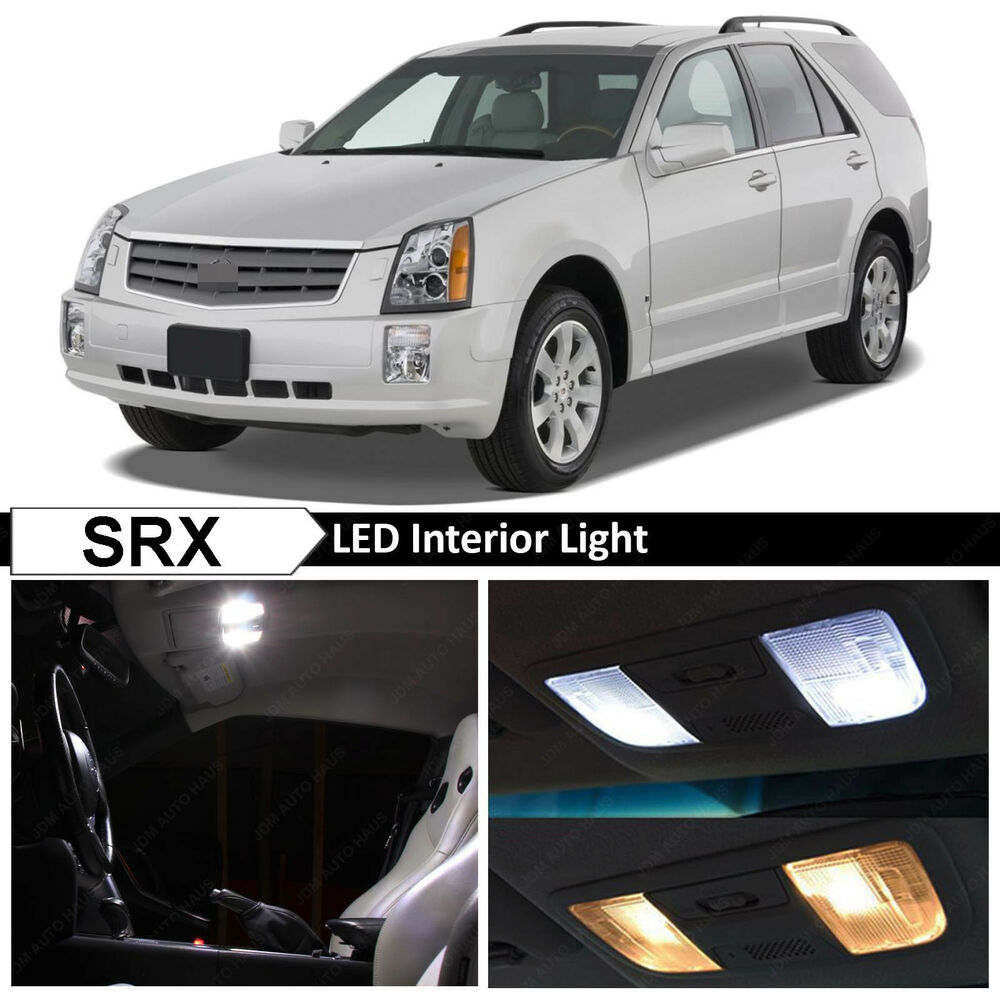 21x White Interior Led Lights Package For 2004 2009 Cadillac Srx Tool Ebay