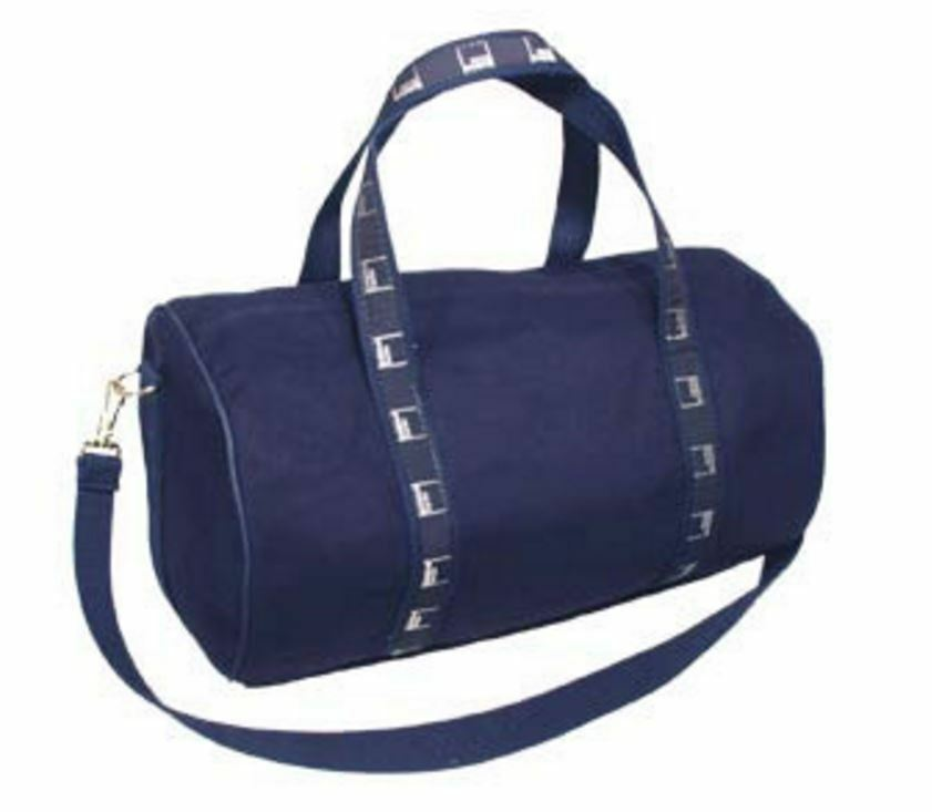 Authentic Goldman Sachs Small Canvas Duffle Bag Navy Ebay