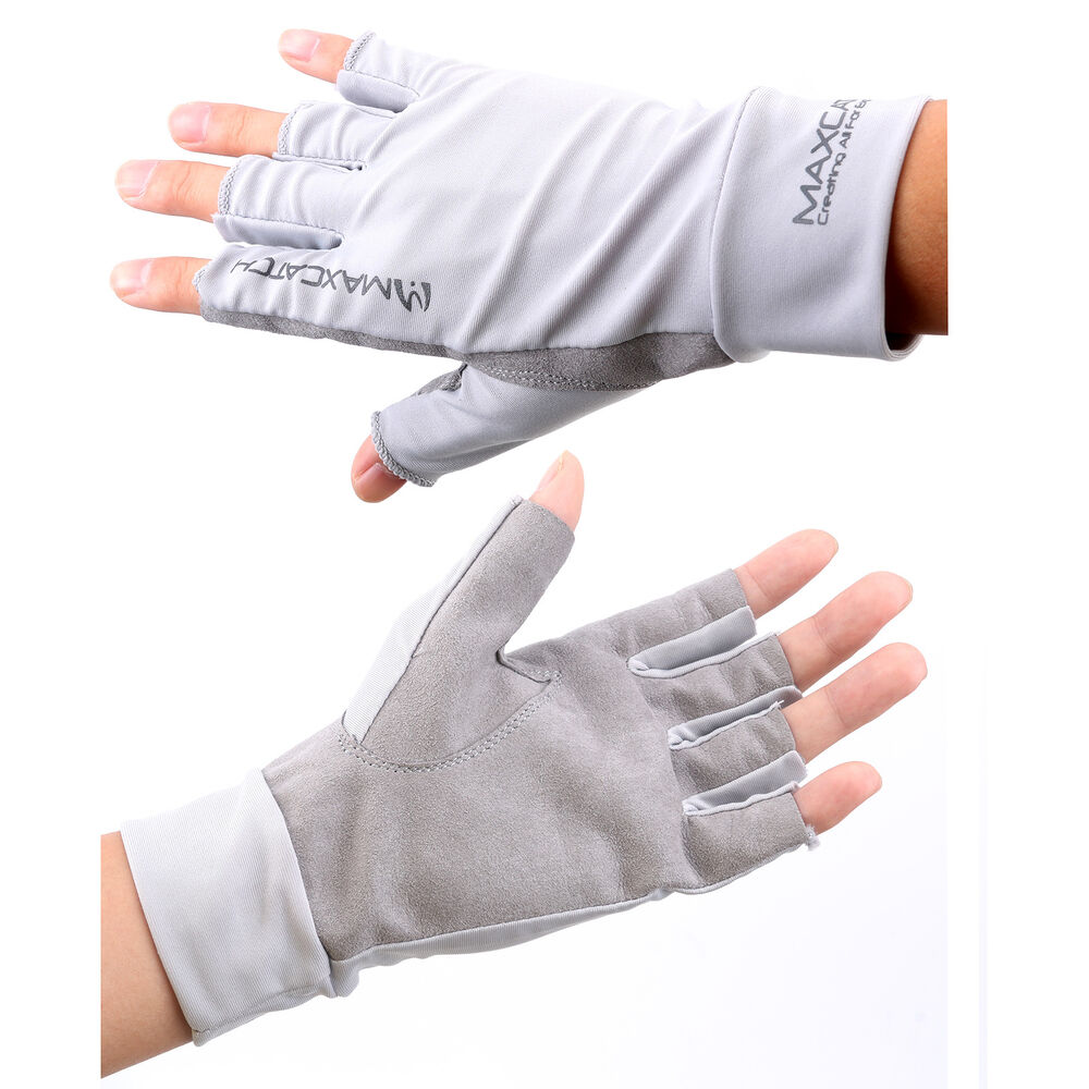1 pair sun protective gloves fly fishing anti uv for Fishing sun gloves