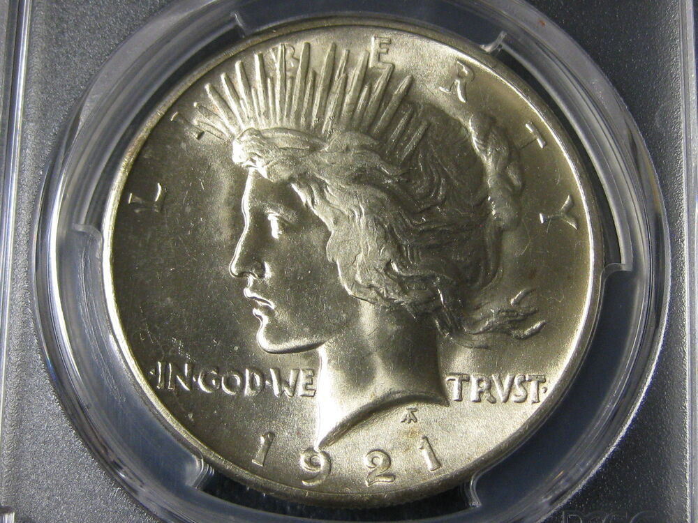 1921 Peace Silver Dollar Pcgs Ms65 High Relief Ebay