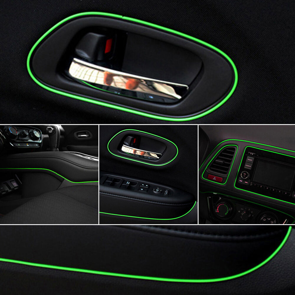green 5m point edge gap line auto car interior accessories molding garnish decal ebay. Black Bedroom Furniture Sets. Home Design Ideas