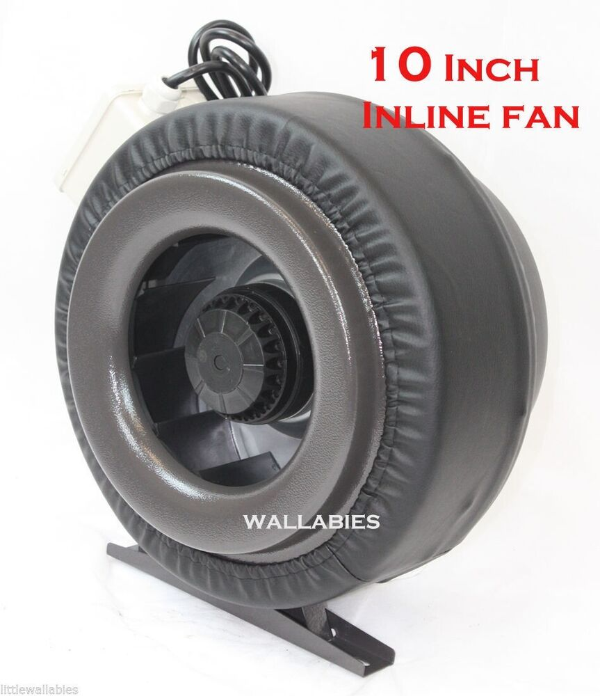 Inline Duct Vents : Quot inch inline fan hydroponics exhaust duct vent blower