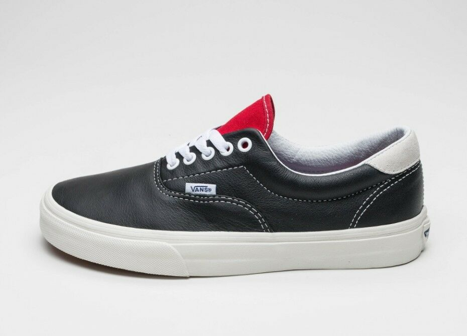 1551ebaeae Details about VANS ERA 59 BLACK VINTAGE SPORT BLACK   RACING RED SHOES MENS  LEATHER