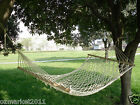 Leisure Portable Safe Cotton Rope White W100cm*L200cm Outdoor 2*People Hammock
