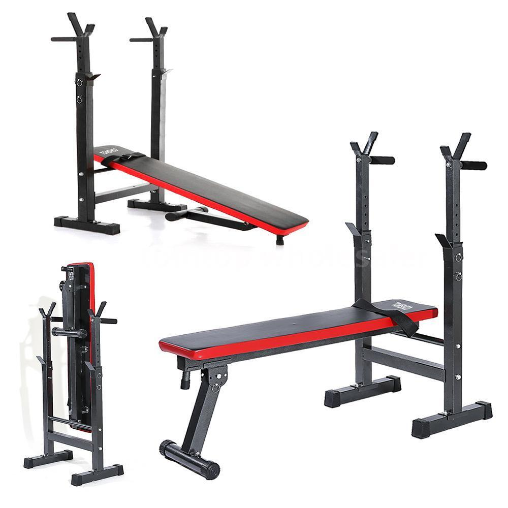 Tomshoo Adjustable Folding Weight Lifting Flat Incline Bench Fitness Workout New Ebay