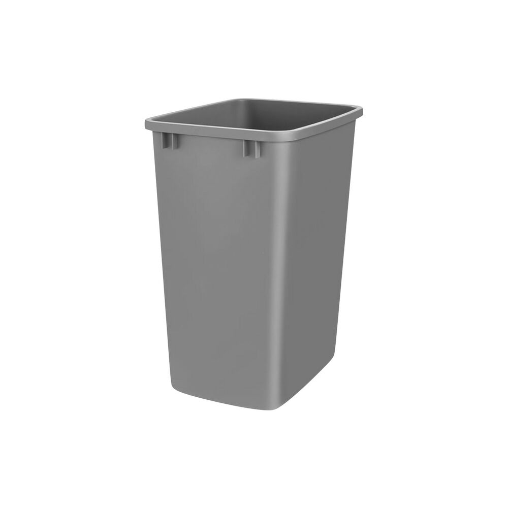 Silver Molded Plastic Office Home Kitchen Trash Can