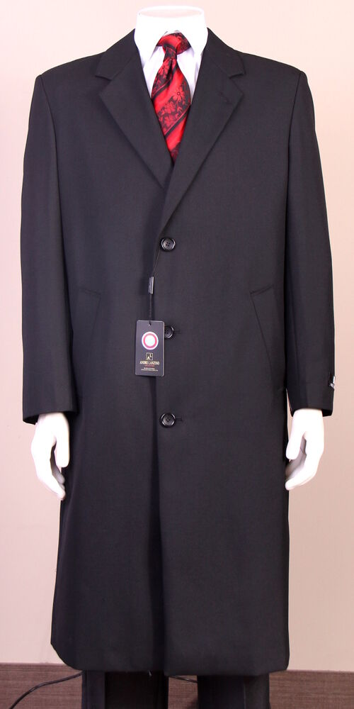 New mens black 100 wool topcoat overcoat long jacket top for Mens red wool shirt