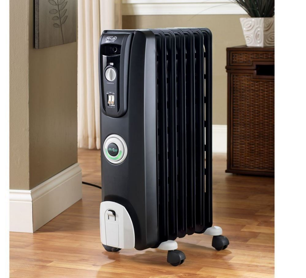 Delonghi 5118 Btu Oil Radiant Tower Electric Space Heater