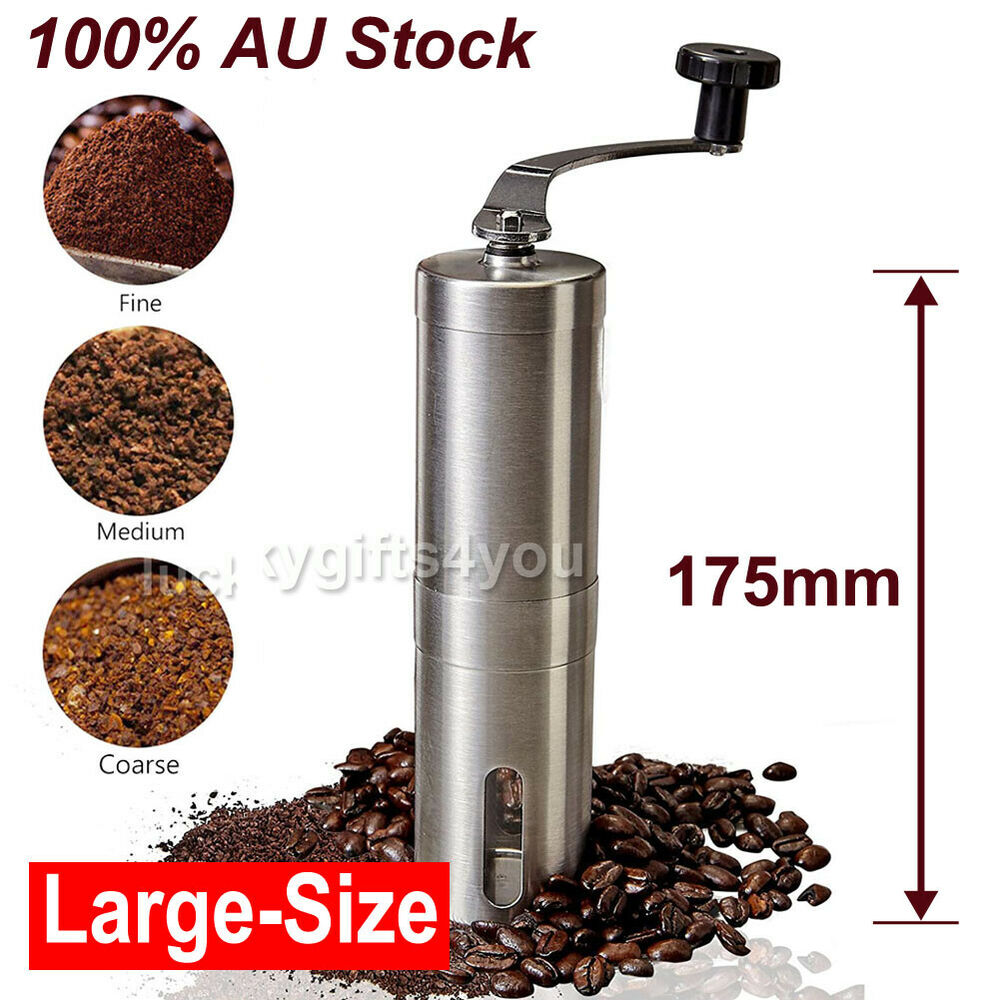 stainless steel manual coffee bean grinder spice nuts. Black Bedroom Furniture Sets. Home Design Ideas