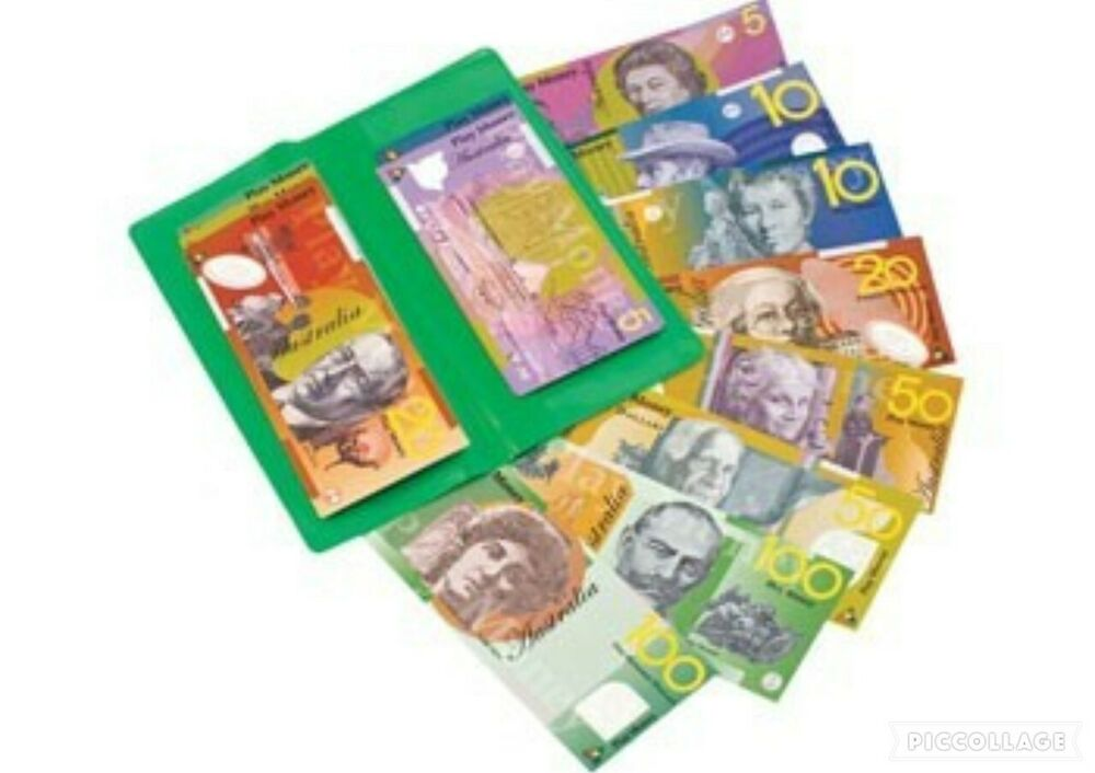 100p Australian Play Money Realistic Maths Pretend Fake
