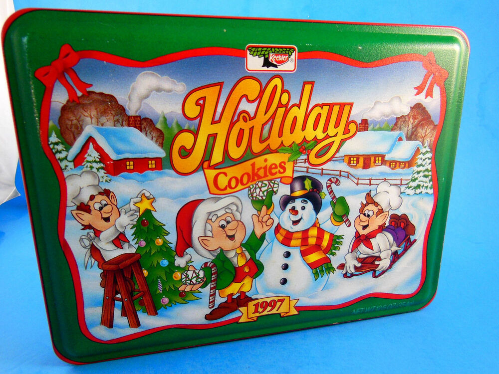 1997 KEEBLER Holiday Cookies Tin 8 X 6 X 2\