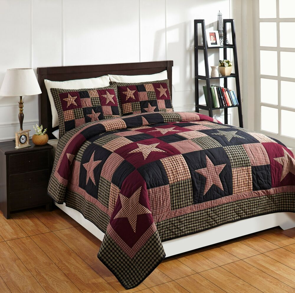 3pc plum creek king patchwork bed quilt set by olivias On country quilt sets