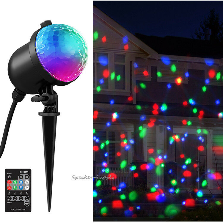 Ion Christmas Party Outdoor Lights Projector LED Motorized