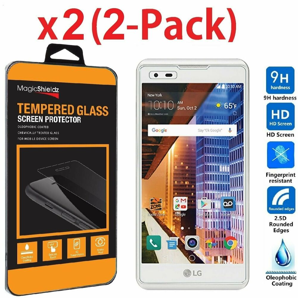 2 pack premium tempered glass screen protector guard for lg tribute hd ls676 ebay. Black Bedroom Furniture Sets. Home Design Ideas