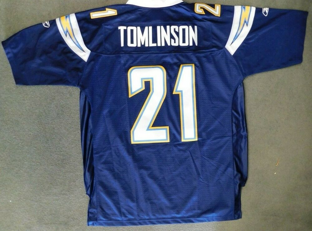 ec22d8d36 Ladainian Tomlinson San Diego Chargers Reebok NFL Equipment Jersey Size  X-Large