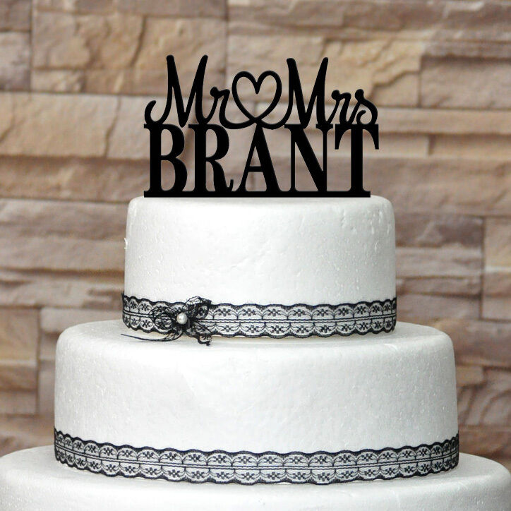 custom last name wedding cake toppers custom wedding cake topper acrylic cake topper 13213