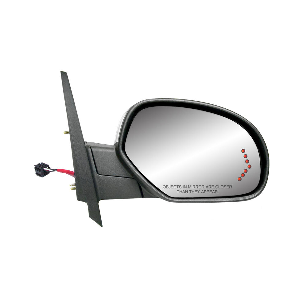 2007 13 chevy gmc power signal view side mirror w chrome for Power mirror motor repair