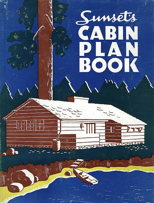 sunset log cabin plan book rare diy books ebay