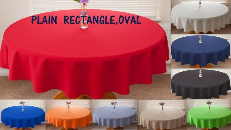 High Quality Fabric Quot Plain Big Sizes Quot Tablecloth Oval